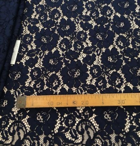 Dark blue lace fabric. Photo 7