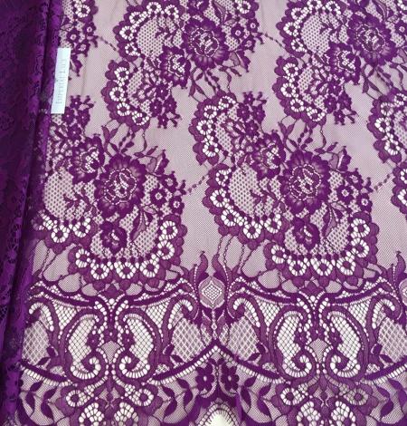 Violet lace fabric. Photo 1