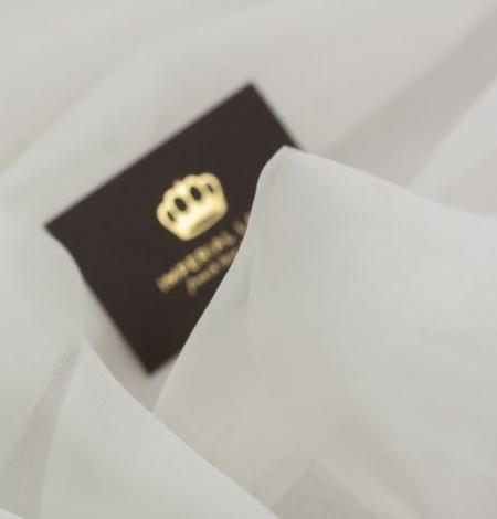 Ivory silk organza fabric . Photo 9