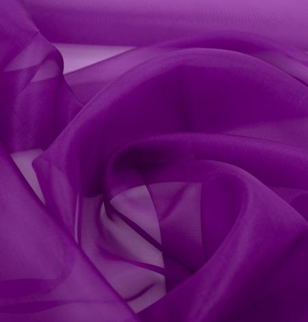 Purple silk organza fabric . Photo 4