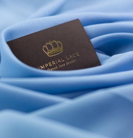 Blue silk with elastane crepe fabric. Photo 4