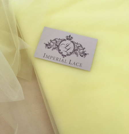 Citrus yellow tulle fabric. Photo 4