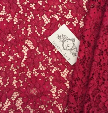 Burgundy Lace Fabric. Photo 1