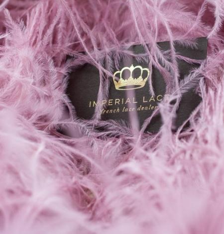 Light raspberry pink natural ostrich feather. Photo 7