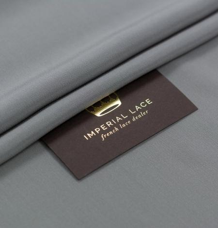 Grey greenish Mulberry silk crepe fabric. Photo 1