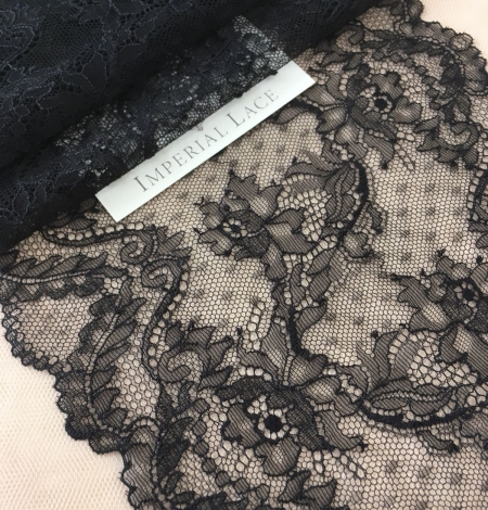 Black elastic lace trim. Photo 1