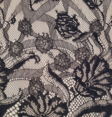 Black lace fabric, . Photo 2