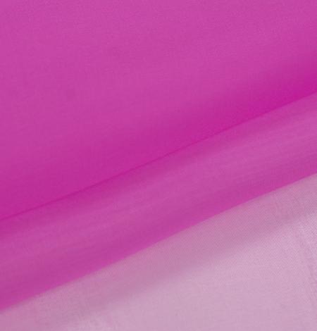 Fuchsia color silk organza fabric. Photo 6
