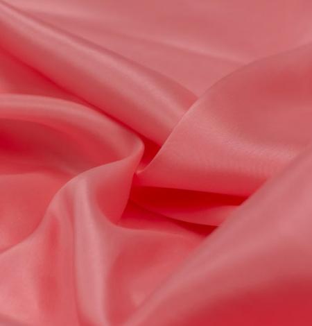 Pink salmon silk lining fabric. Photo 3