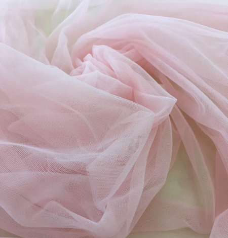 Baby pink tulle fabric. Photo 8