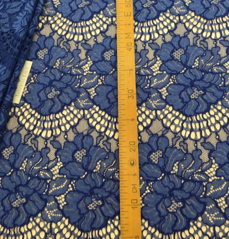 Blue lace fabric. Photo 7