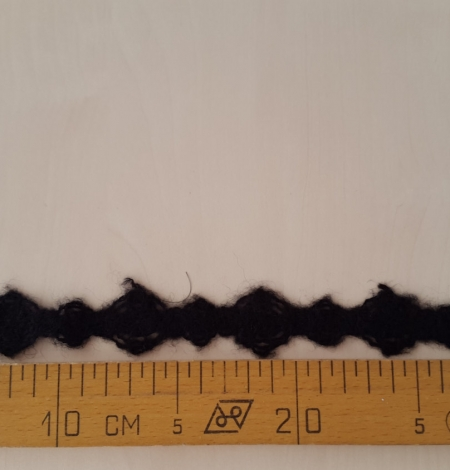 Wool lace trimming black. Photo 4