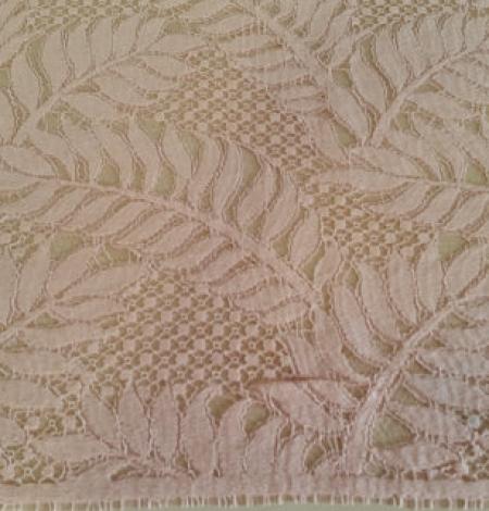 Pink organic pattern guipure lace fabric . Photo 3