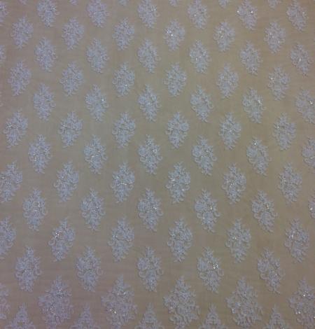 Ivory beads Lace fabric. Photo 2