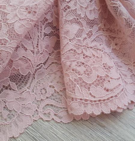 Pink elastic lace trim. Photo 1