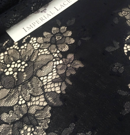 Black lace fabric. Photo 3