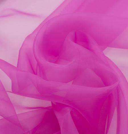 Fuchsia color silk organza fabric. Photo 5