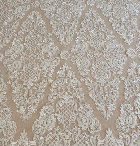 Luxury bridal beaded lace fabric. Photo 10