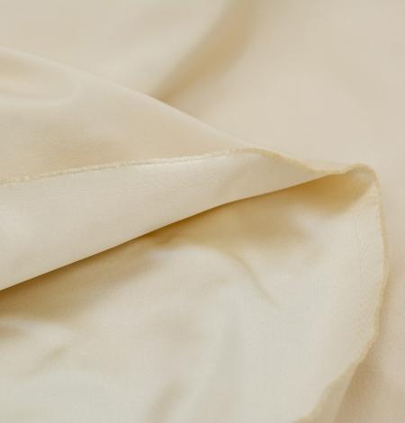 Cream color silk duchess fabric . Photo 9
