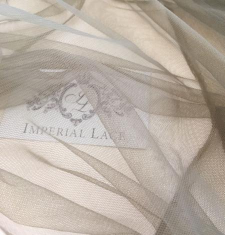 Khaki tulle fabric. Photo 4