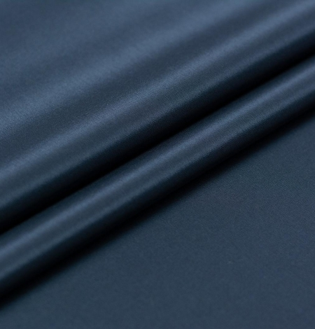 Navy blue viscose with elastane lining fabric. Photo 3