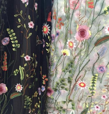 Multicolored lace fabric. Photo 4