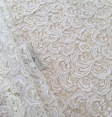 Ivory bridal lace fabric. Photo 1