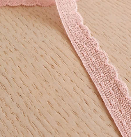 Baby pink chantilly lace trimming. Photo 2