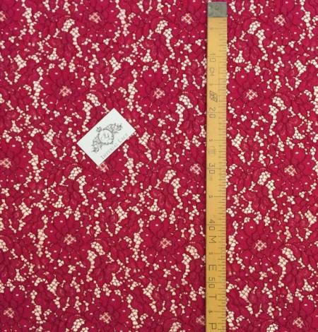 Burgundy Lace Fabric. Photo 5