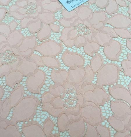 Peach Lace Fabric. Photo 4
