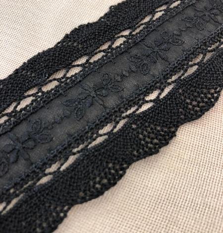Black lace cotton trimming. Photo 2