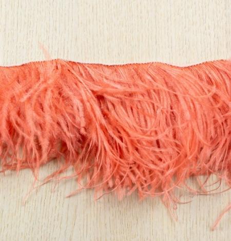 Coral orange soft ostrich feather. Photo 7