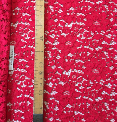 Red lace fabric. Photo 7
