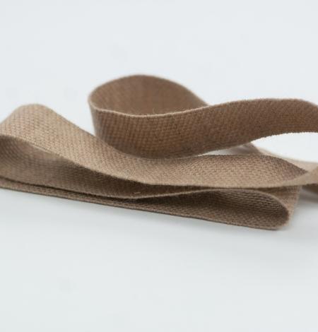 Brown lana wool ribbon . Photo 2
