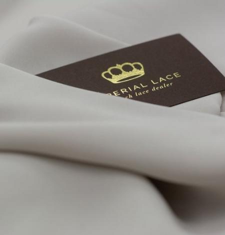 Light grey Mulberry silk with elastane crepe fabric. Photo 5