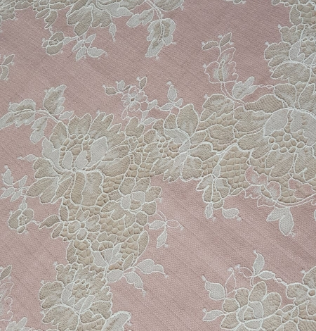 Pink with white flower pattern fabric. Photo 3