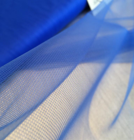 Blue tulle fabric. Photo 1