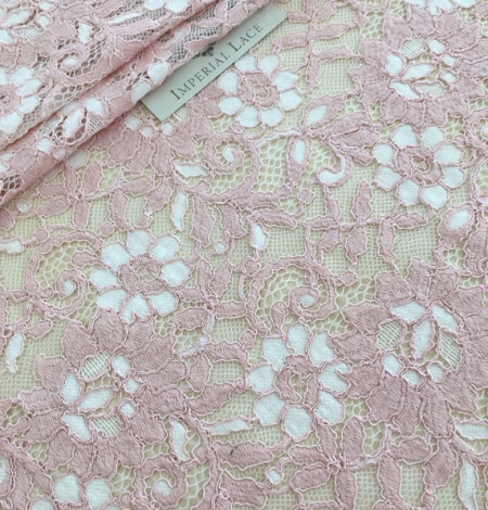 Pink lace fabric. Photo 2