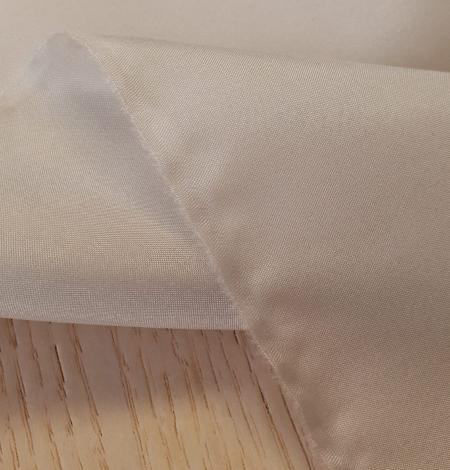 Greyish beige 100% silk lining fabric . Photo 7
