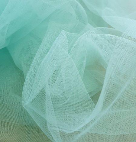 Tiffany blue tulle fabric. Photo 6