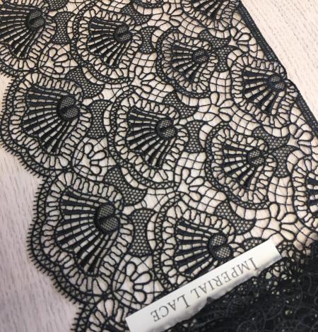 Black macrame lace trimming. Photo 3