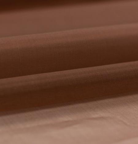 Brown silk organza fabric . Photo 4