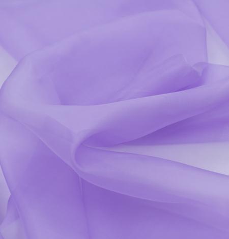 Lilac silk organza fabric. Photo 5