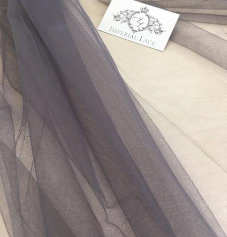 Grey tulle fabric. Photo 1