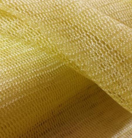 Yellow silk tulle fabric. Photo 4
