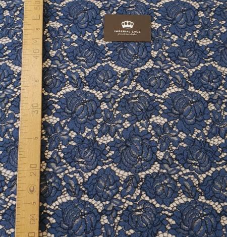 Dark blue cord thread lace fabric. Photo 10