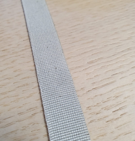 Grey grosgrain viscose ribbon. Photo 4