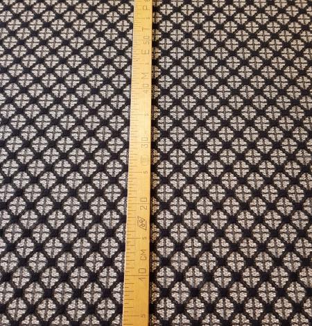 Black lace fabric. Photo 9