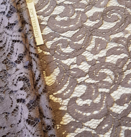 Brown lace fabric. Photo 7