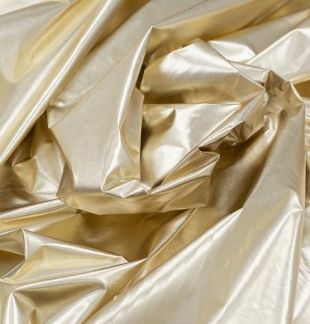 Gold color shiny rain coat fabric. Photo 3